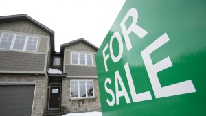A home for sale in Beckwith, Ont., on Jan. 11, 2018. (Sean Kilpatrick / THE CANADIAN PRESS)