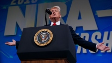 U.S. President Donald Trump at NRA annual meeting
