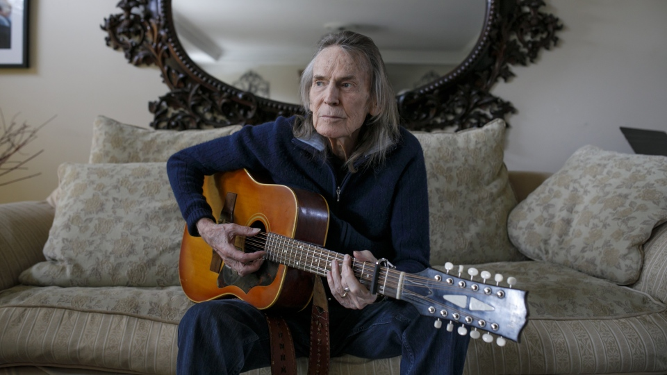 Canadian musician Gordon Lightfoot poses for a photo in his Toronto home on Thursday, April 25, 2019. (THE CANADIAN PRESS/Cole Burston)