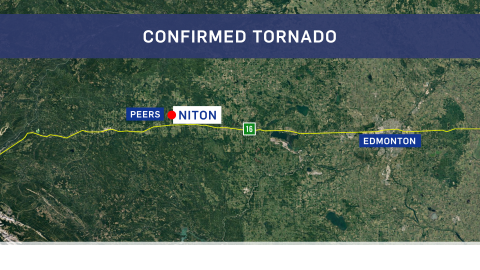 tornado touched down west of edmonton on wednesday ctv