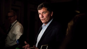 Then-Intergovernmental Affairs Minister Dominic LeBlanc addresses the media in Saskatoon, Sask., Wednesday, Sept. 12, 2018. THE CANADIAN PRESS/Matt Smith