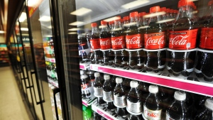 Coffee-flavored Coca-Cola is coming in 2019. (AFP PHOTO/Jewel Samad)