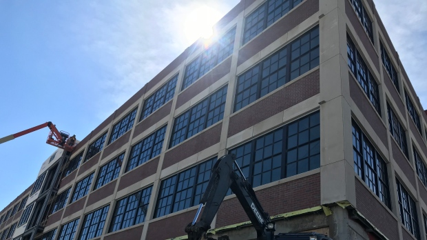 Renovations unearth several discoveries at the former Walker Power building in Windsor, Ont. On Wednesday, April 24, 2019. (Rich Garton / CTV Windsor)