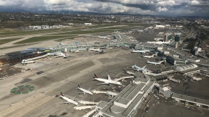 YVR is shown in a photo from CTV News Vancouver on April 26, 2019.