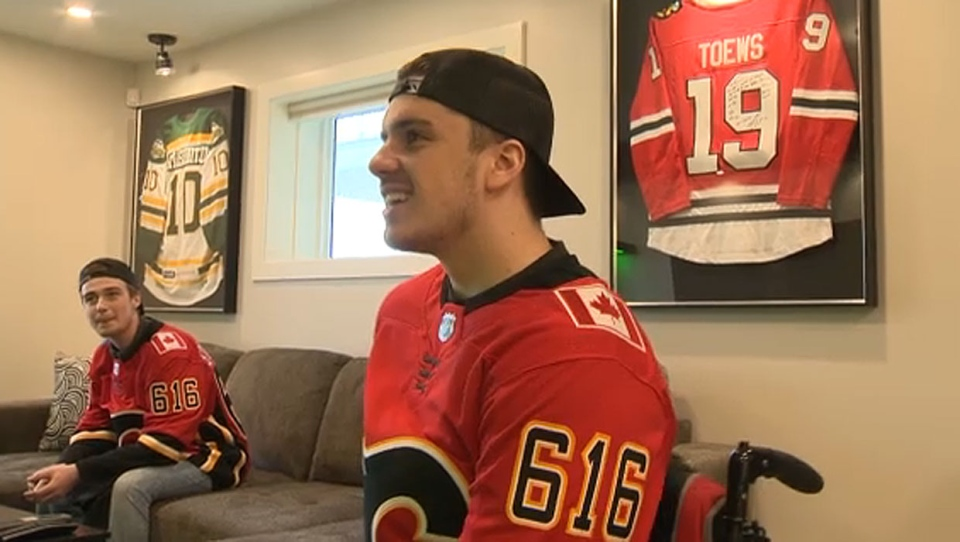 Ryan Straschnitzki is back at home in Airdrie with his family for the first time since the Humboldt Broncos crash last year.