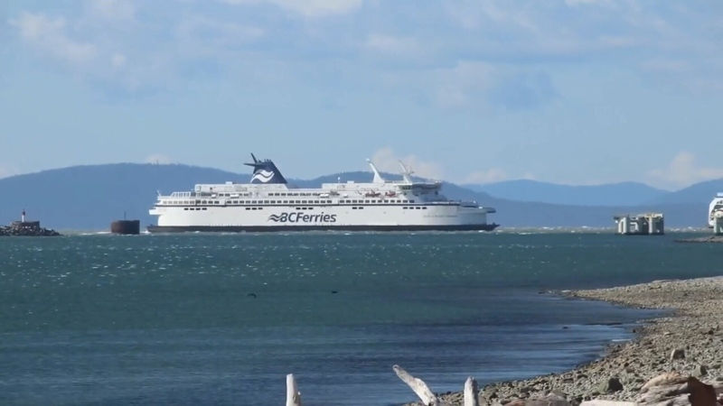 A BC Ferries vessel is shown.