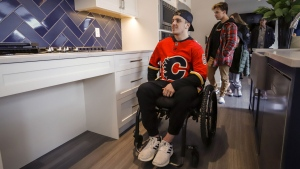 After more than a year since Humboldt Broncos player Ryan Straschnitzki was injured he is finally retuning home to Airdrie, Alta., Saturday, April 27, 2019.THE CANADIAN PRESS/Jeff McIntosh