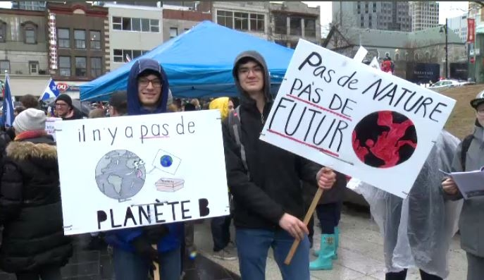 Climate change march in Montreal