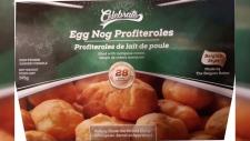 Egg Nog Profiteroles