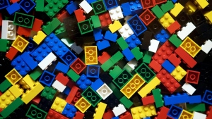 An undated photo from files showing pieces of Lego. (Thomas Borberg/Polfoto via AP, File) DENMARK OUT