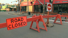 The intersection at 17th Avenue and 14th Street S.W. will be closed from Friday through Tuesday over the long weekend.