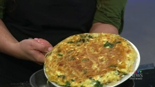 Frittata for dinner, leftovers for breakfast