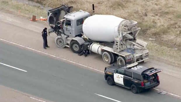 Man, 66, dies after being hit by cement truck on Highway 404