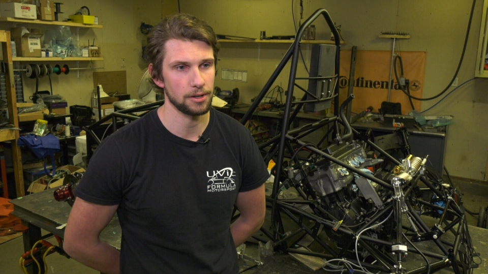 Nigel Swab, the University of Victoria motorsport team's vehicle dynamics lead. (CTV Vancouver Island)