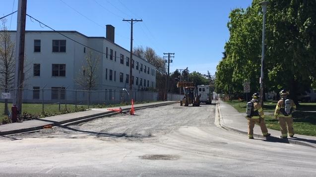 Work Point gas line leak
