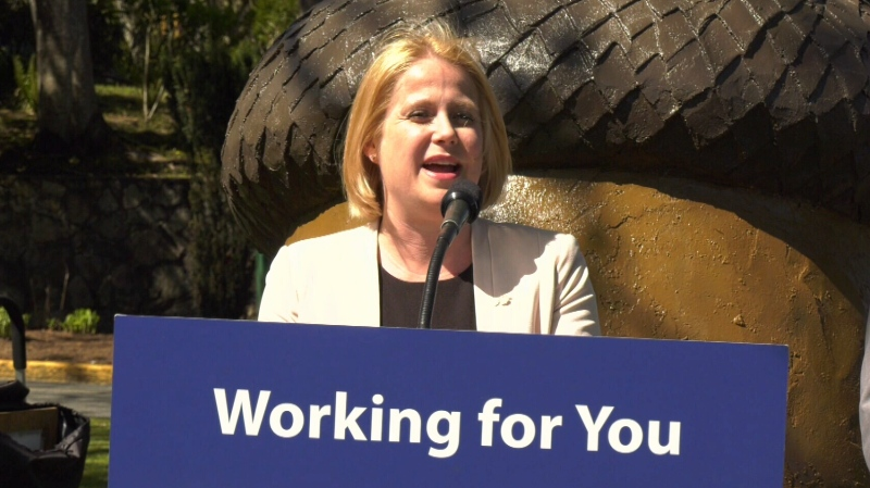Lisa Beare, Minister of Citizens' Services, makes an announcement on Vancouver Island: April 29, 2019. (CTV Vancouver Island