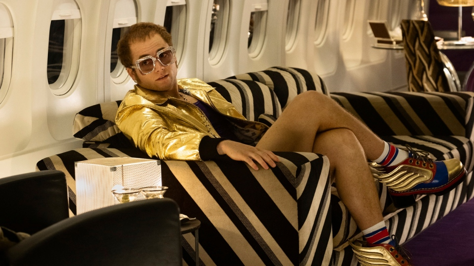 This image released by Paramount Pictures shows Taron Egerton as Elton John in a scene from