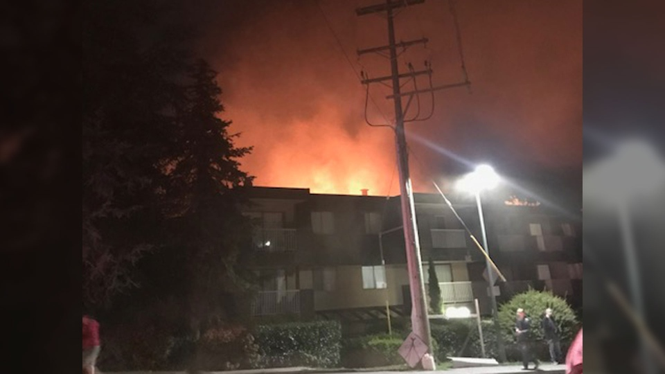 Dozens were forced out of their homes when a fire broke out at a Coquitlam apartment building early Tuesday, April 30, 2019.