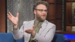 Seth Rogen promotes cannabis on The Late Show