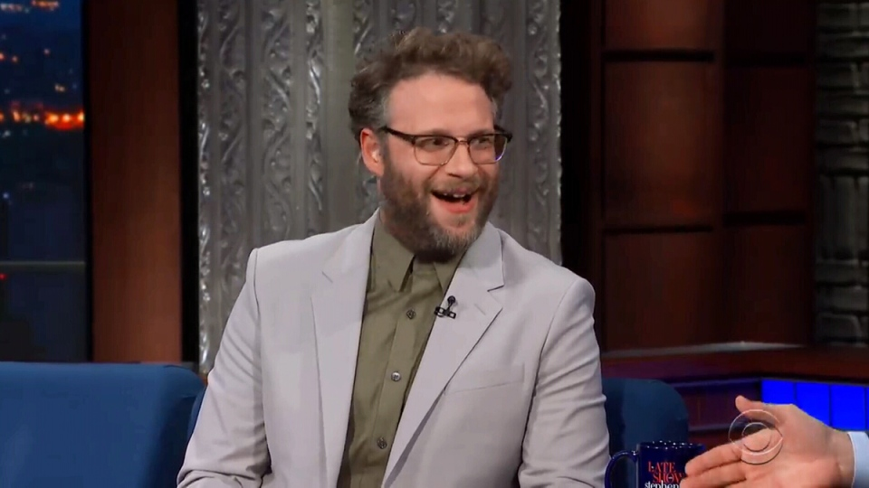 Seth Rogen appears on 'The Late Show' on Monday, April 29, 2019.