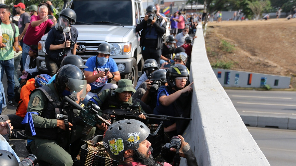 Troops rebelling against Maduro government