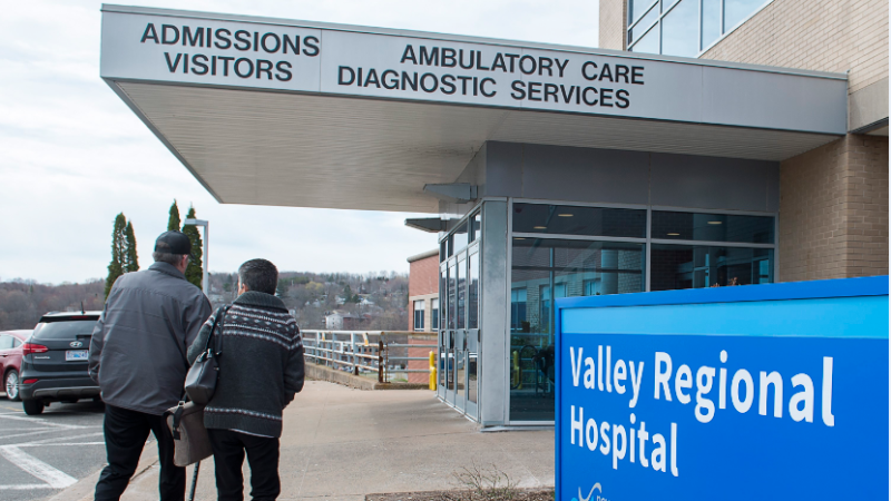 The Valley Regional Hospital in Kentville, N.S. is seen on Tuesday, April 30, 2019. Doctors at the facility have started a crowdfunding campaign to raise money to pay for more hospital beds. THE CANADIAN PRESS/Andrew Vaughan