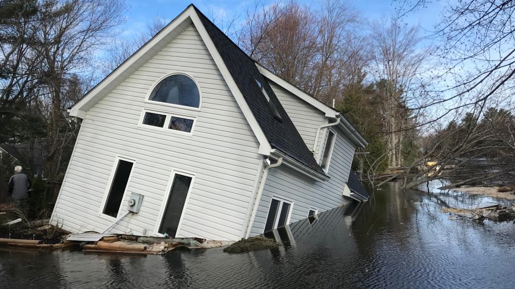 Beyond heartbreaking': Bracebridge house sinks in flood waters   CTV