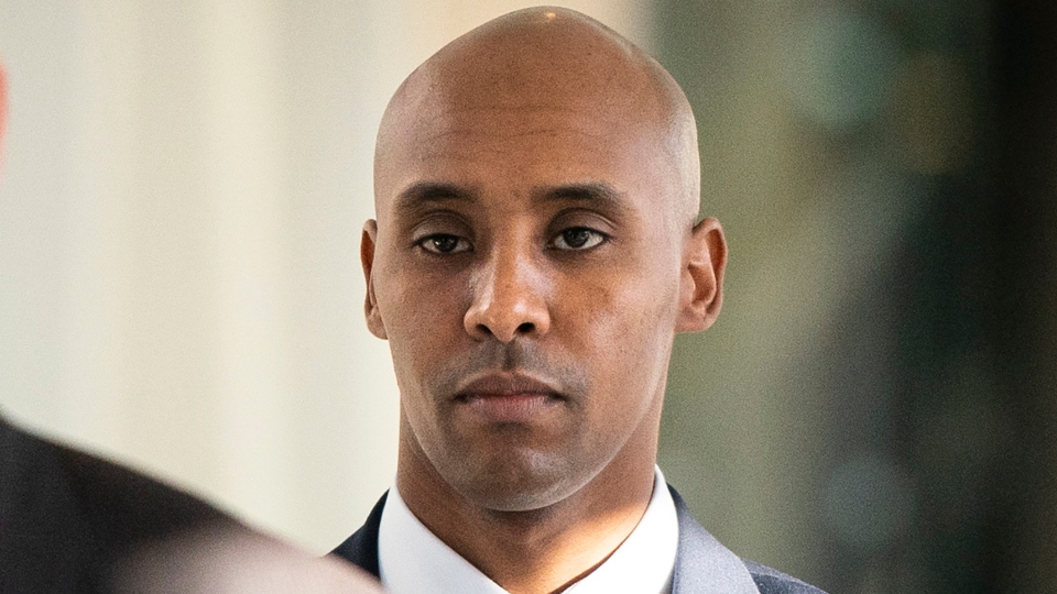 In this Friday, April 26, 2019, file photo, former Minneapolis police officer Mohamed Noor walks to court in Minneapolis. (Leila Navidi/Star Tribune via AP, File)