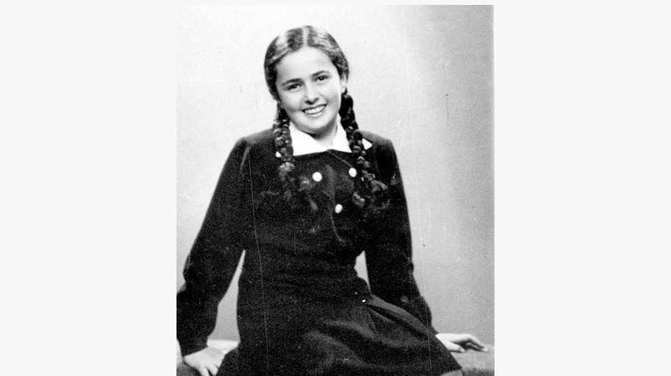 This photo shows a 13-year-old Eva Heyman photographed in Hungary months before she was murdered in a Nazi concentration camp in 1944. (Yad Vashem via AP)