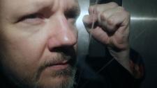 Julian Assange in London