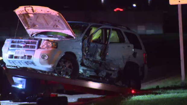 A vehicle after a crash