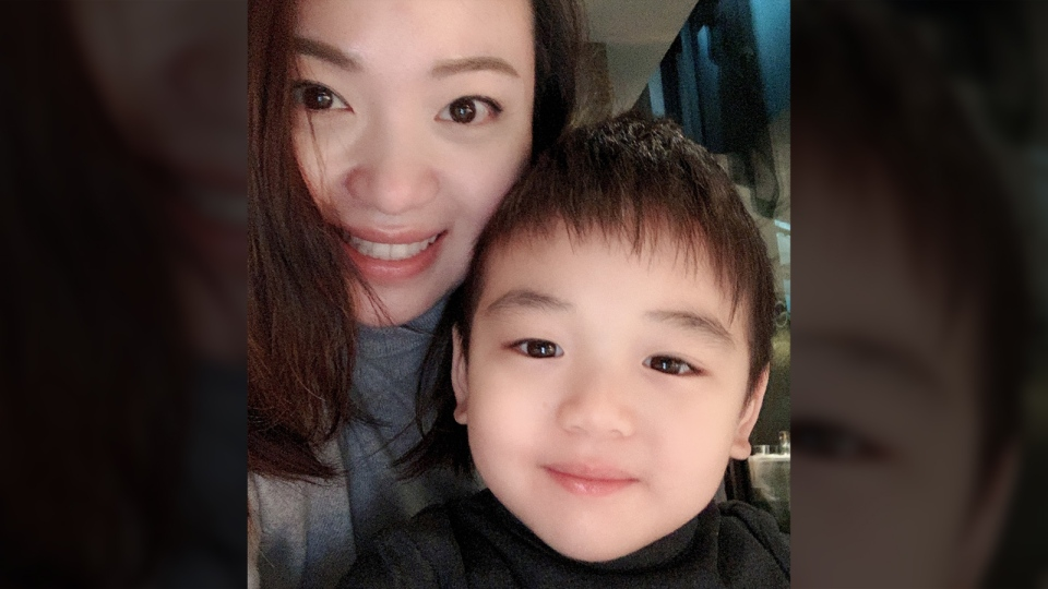 Janey Yu and her son Caleb are seen in this photo. (Janey Yu)