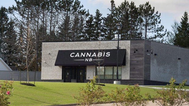 A Cannabis NB retail store is seen in Sackville, N.B. is seen on Sunday, Oct. 14, 2018. (THE CANADIAN PRESS/Andrew Vaughan)