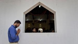 Catholics participate in a Mass at St. Joseph's church in Thannamunai, Sri Lanka, on April 30, 2019. (Gemunu Amarasinghe / AP)