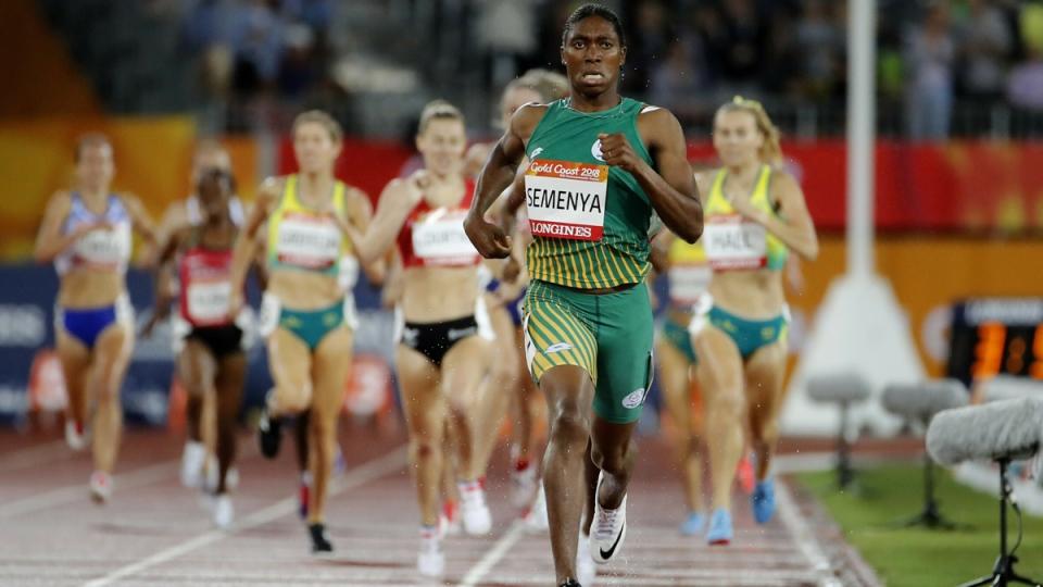 Caster Semenya at the 2018 Commonwealth Games in Australia, April 10, 2018. (Mark Schiefelbein / AP)
