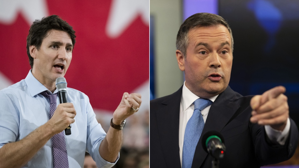 Justin Trudeau, left, and Jason Kenney