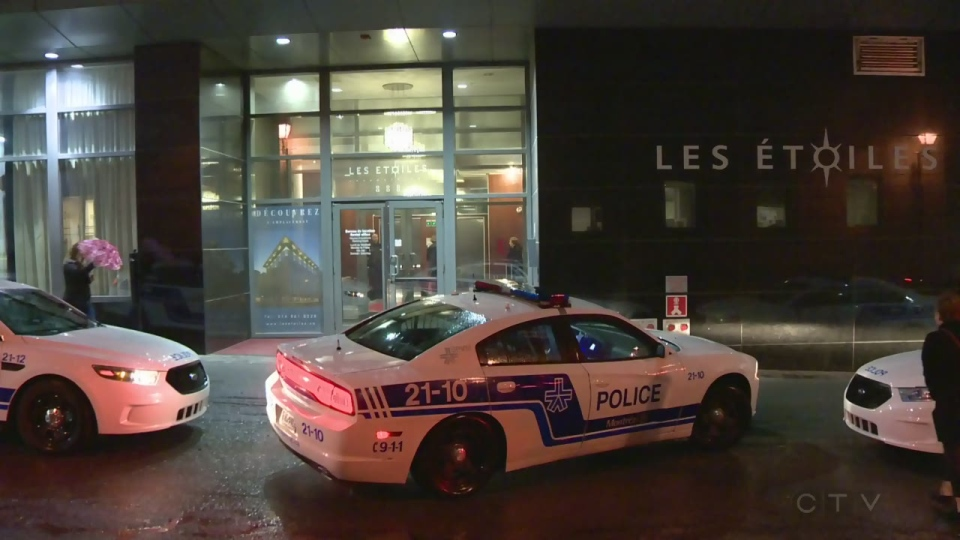Officers in six police cars responded to a stabbing at a condo complex on St. Francis Xavier St. in Montreal