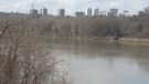 The North Saskatchewan River in Edmonton.
