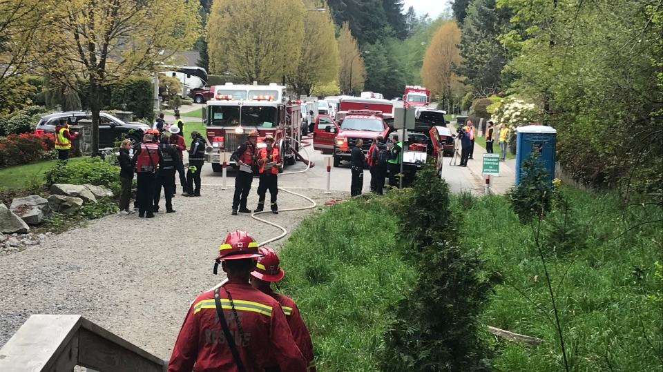 Crews participate in 'Operation Dry Lightning,' an exercise meant to simulate an interface fire in North Vancouver.