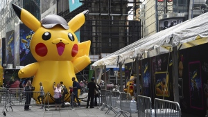 At the premiere of 'Pokemon Detective Pikachu'