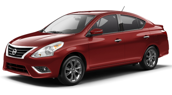 Police supplied stock image of a Nissan Versa.