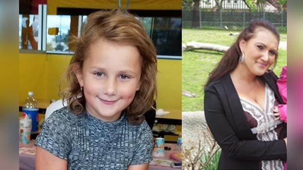 Ayla Velic, 6, is pictured at left, Elmedina Velic