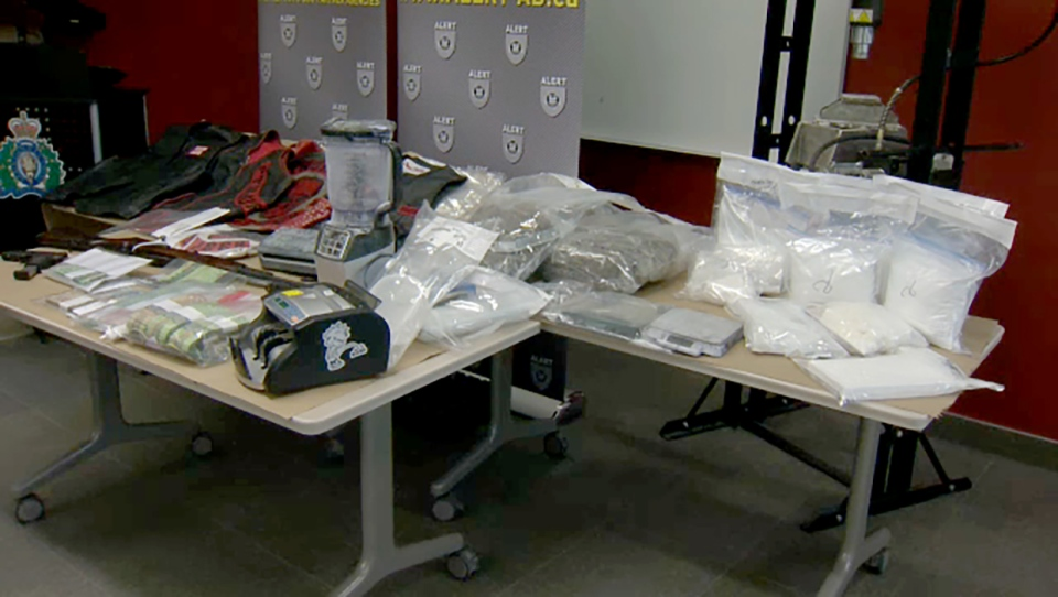 Members of Hells Angels support club busted on drug and weapons