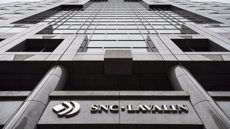 The headquarters of SNC Lavalin is seen Thursday, November 6, 2014 in Montreal. SNC-Lavalin Group Inc. reported a loss in its first quarter compared with a profit a year ago as its revenue edged lower.THE CANADIAN PRESS/Paul Chiasson
