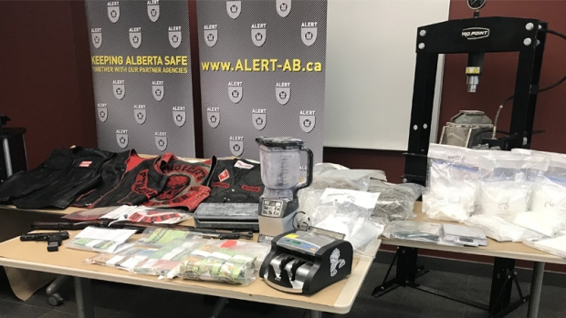 Members of Hells Angels support gang charged in Red Deer drug bust