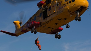 A Cormorant helicopters is seen in this undated image. (Victoria Joint Rescue Co-ordination Centre)