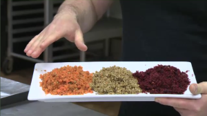"Jonathan Rodrigue's company, ""Still Good,"" transforms ingredients that most people would consider unusable - like beet and carrot pulp - into tasty treats. (CTV Montreal)"