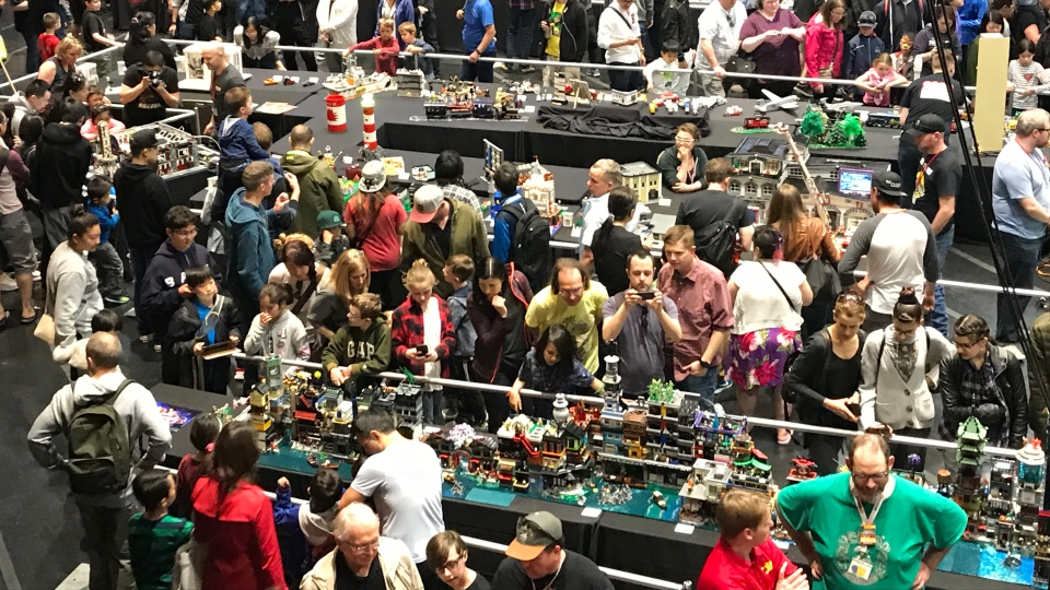 Lego enthusiasts are seen at BrickCan 2019 at the River Rock Casino in Richmond. (Steve Saunders)