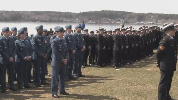 In Halifax's Point Pleasant Park, hundreds of soldiers stood at attention, taking a moment to commemorate the longest military engagement of the Second World War and remember the more than 4500 Canadian who lost their lives in the line of duty.