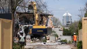 The Toronto home of Barry and Honey Sherman, where the couple had been murdered, is being demolished after the North York Community Council approved the family's request. (CTV News Toronto)